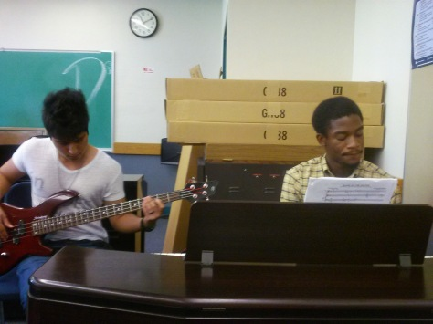 I got lucky and was able to catch a jam session going on in my theory class one day!