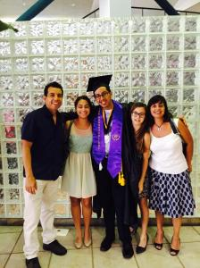 Posing with the family at the Miami Dade College 2015 Commencement Ceremony of the Wolfson and Hialeah Campuses.