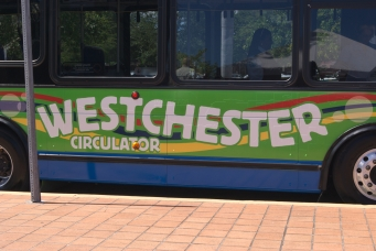 The specially-painted Westchester Circulator bus was parked outside the West Dade Regional Library for a ribbon-cutting ceremony on July 13. BY TOMAS MONZON