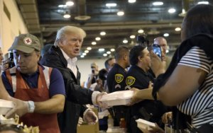 president-donald-trump-passes-out-food-and-meets-people-impacted-by-hurricane-harvey-during-a-visit-to-the-nrg-center-in-houston-saturday-sept-2-2017